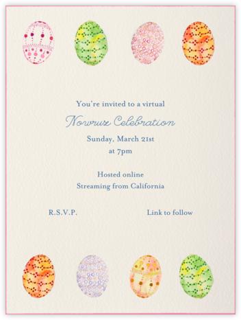 Watercolored Eggs - Paperless Post - Nowruz Invitations