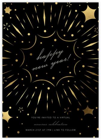 Bursting with Joy (New Year's) - Black - Paperless Post - Nowruz Invitations