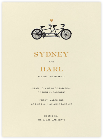 Tandem I (Invitation) - kate spade new york - Engagement party invitations