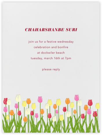 Tulips - Paperless Post - Nowruz Invitations
