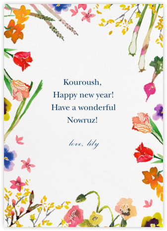 Spring Market - Happy Menocal - Nowruz Cards