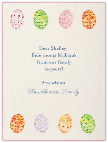 Watercolored Eggs - Paperless Post - Nowruz Cards