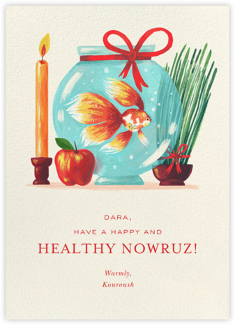 Haft-Sin Goldfish - Paperless Post - Nowruz Cards