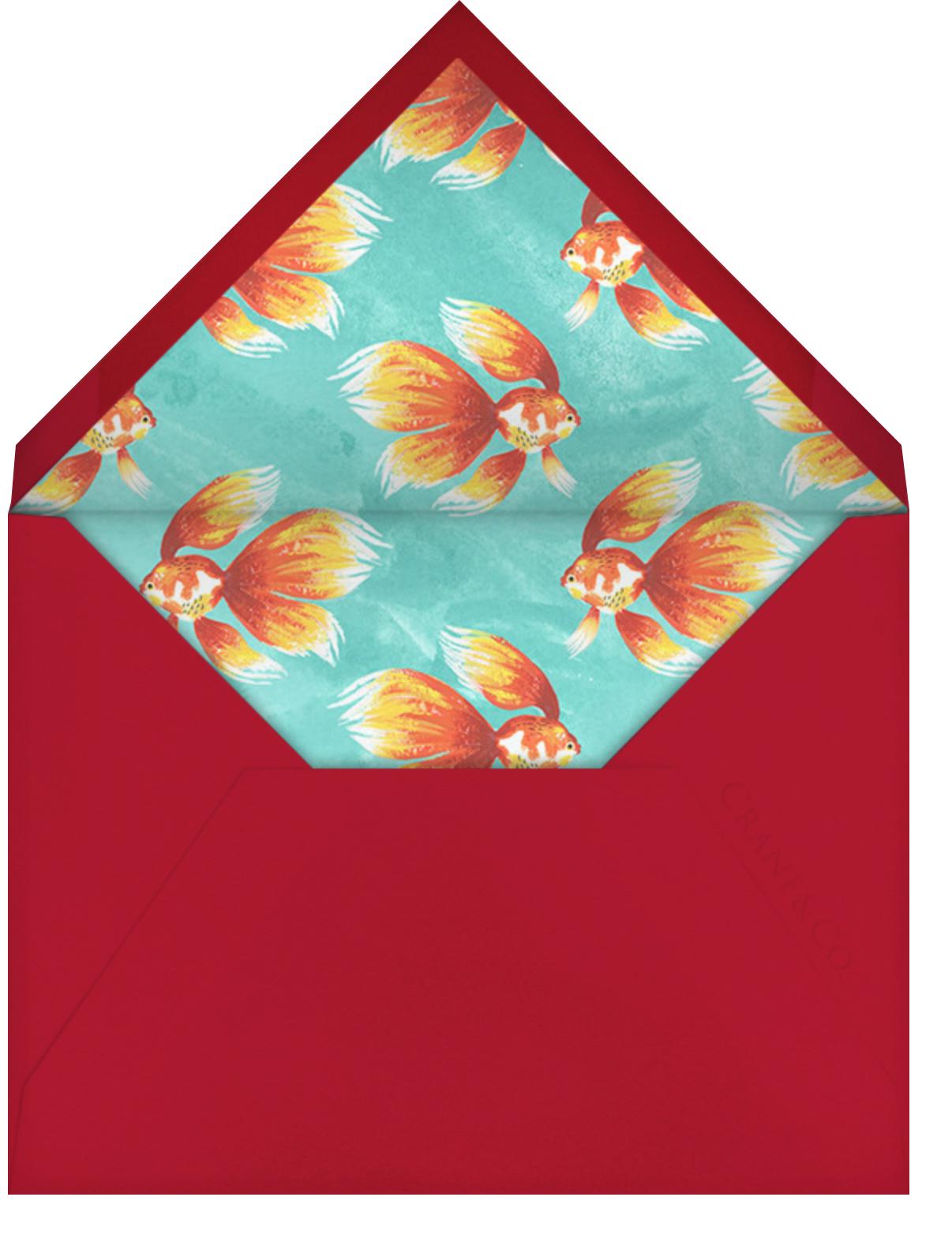 Haft-Sin Goldfish - Paperless Post - Envelope