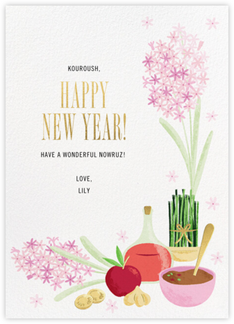 Haft-Sin Table - Paperless Post - Nowruz Cards