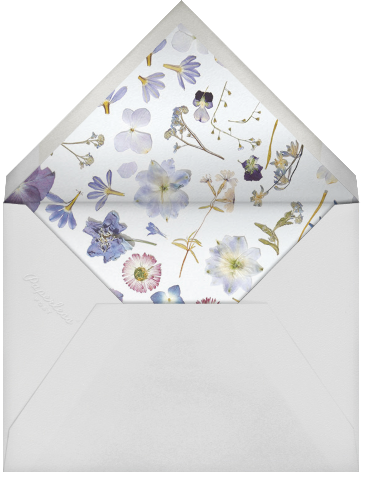 Hyacinth Trio - Paperless Post - Mother's Day - envelope back