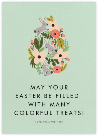 The Rabbit or the Egg - Mint - Rifle Paper Co. -