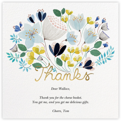 April Bouquet (Anna Emilia Laitinen) - Red Cap Cards - Online Thank You Cards