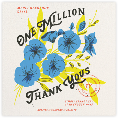One Million (Dylan Mierzwinski) - Red Cap Cards - Online Thank You Cards