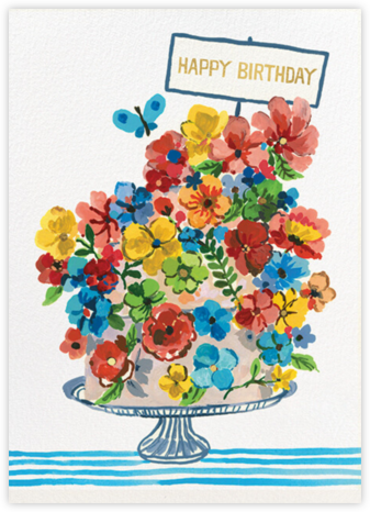 Cake in Bloom (Carolyn Gavin) - Red Cap Cards -
