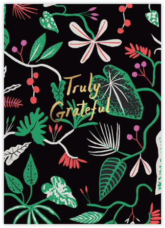 Grateful Foliage (Danielle Kroll) - Red Cap Cards - Online Thank You Cards