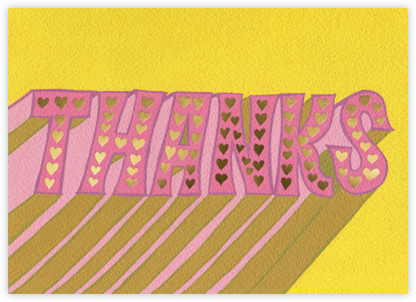 Thankful Hearts (Krista Perry) - Red Cap Cards - Online Thank You Cards
