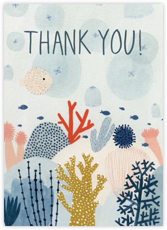 Coral Reef (Kate Pugsly) - Red Cap Cards - Online Thank You Cards