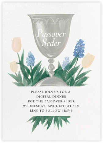 Kiddush Cup - Paperless Post - Passover invitations