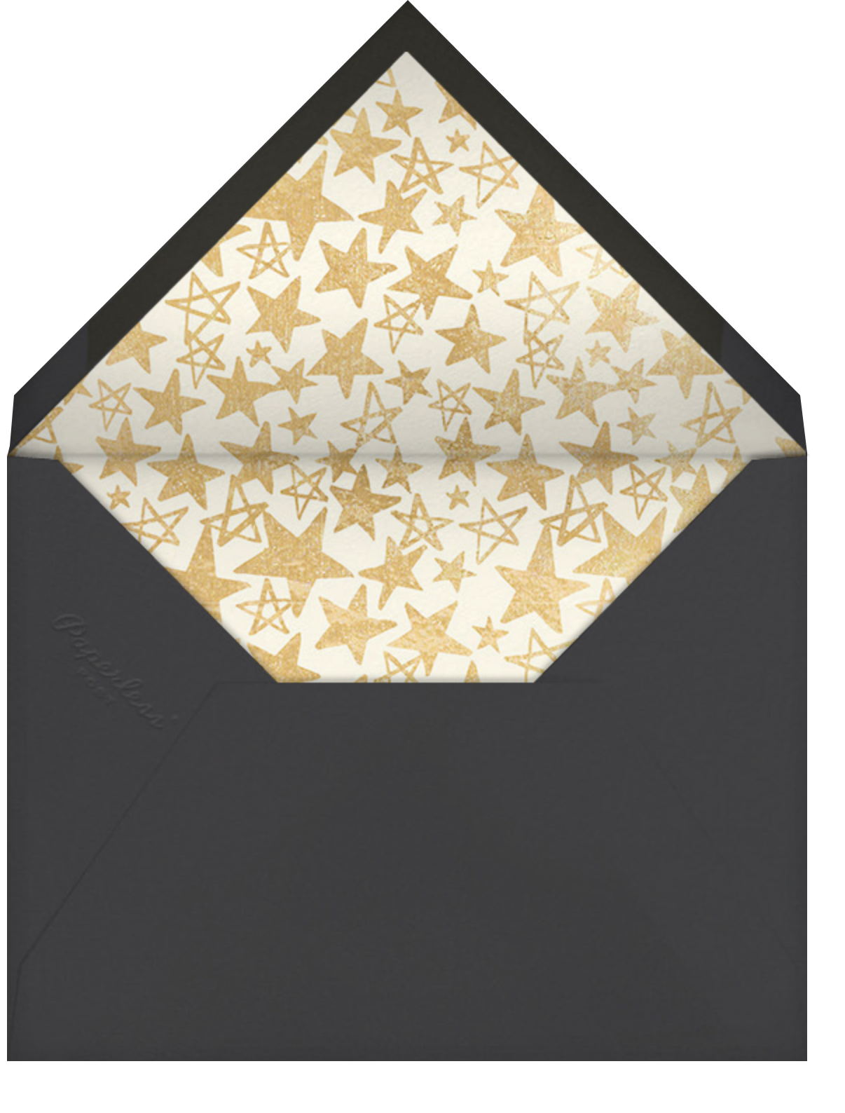 Reach for the Stars - Gold - Hello!Lucky - Graduation - envelope back