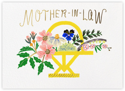 Basket of Blooms (Emily Isabella) - Mother-In-Law - Red Cap Cards -
