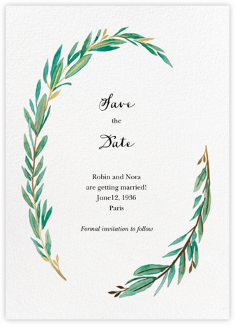 Olive Branch - Paper Source - Save the dates