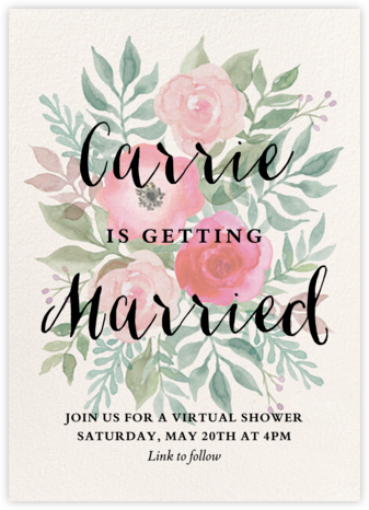 Watercolor Garden Floral - Paper Source - Bridal shower invitations