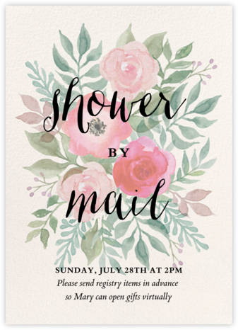 Watercolor Garden Floral - Paper Source - Baby Shower Invitations