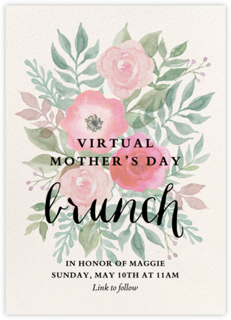 Watercolor Garden Floral - Paper Source - Invitations