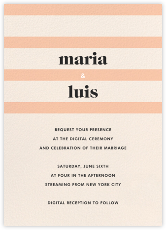 Aligned (Invitation) - kate spade new york - Virtual Wedding Invitations