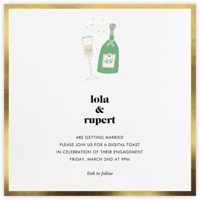 Champ Flute - kate spade new york - Engagement party invitations