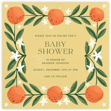 A L'Orange - Paperless Post - Baby Shower Invitations