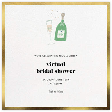 Champ Flute - kate spade new york - Bridal shower invitations