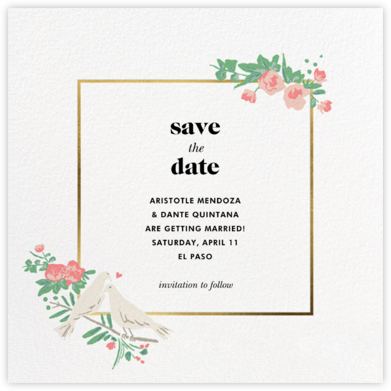 Dove Love - kate spade new york - Save the dates