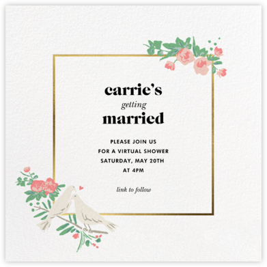 Dove Love - kate spade new york - Bridal shower invitations