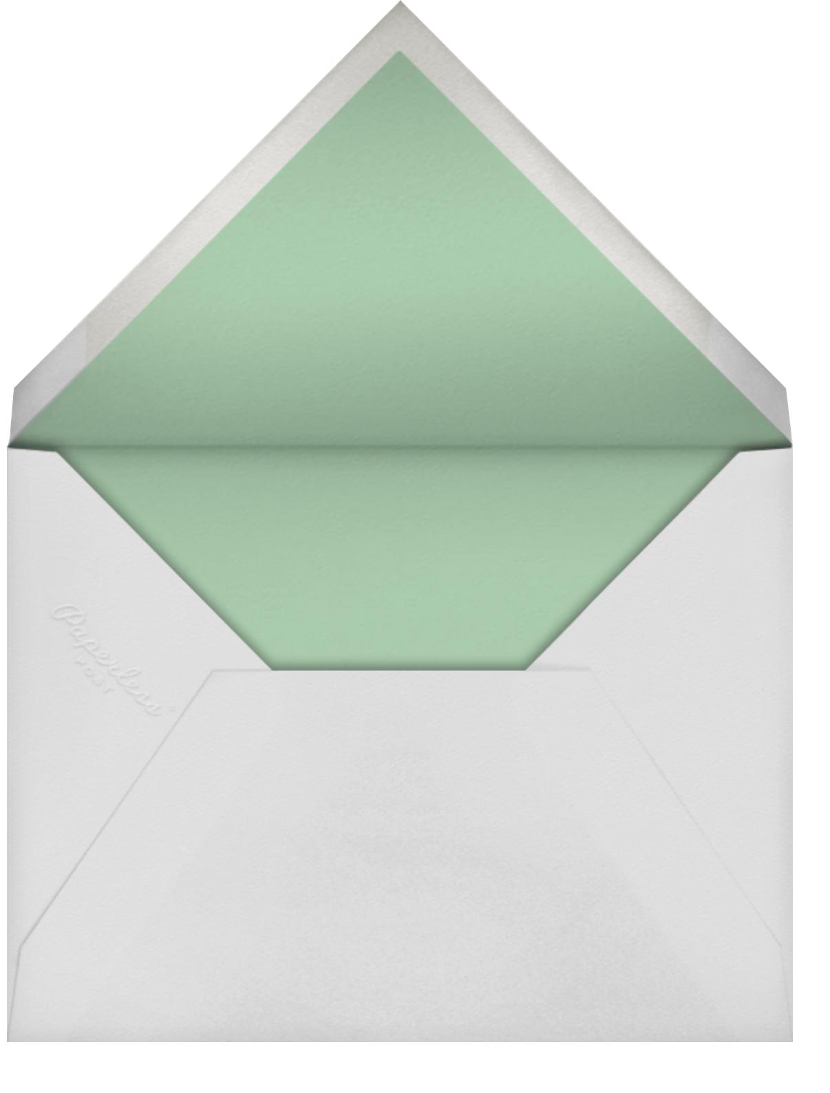 Falling Flowers - Mint - kate spade new york - Baby shower - envelope back