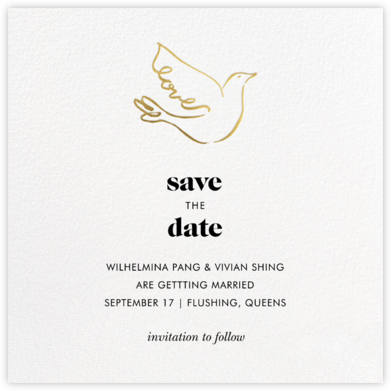 Gold Dove - kate spade new york - Save the dates