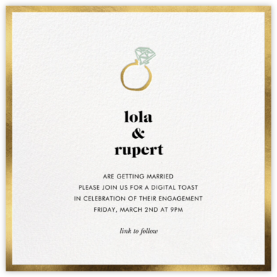 Ring Ring - Gold - kate spade new york - Engagement party invitations