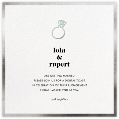 Ring Ring - Silver - kate spade new york - Engagement party invitations