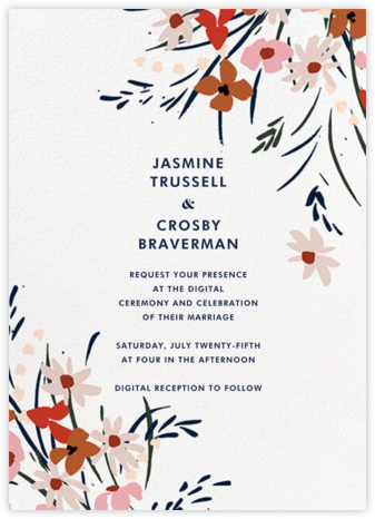 Spring Bouquet (Invitation) - kate spade new york - Virtual Wedding Invitations