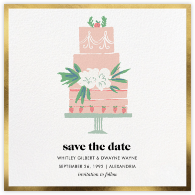 Three Tiered - kate spade new york - Save the dates