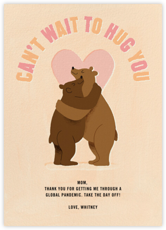 Mama Bear Hug - Paperless Post -