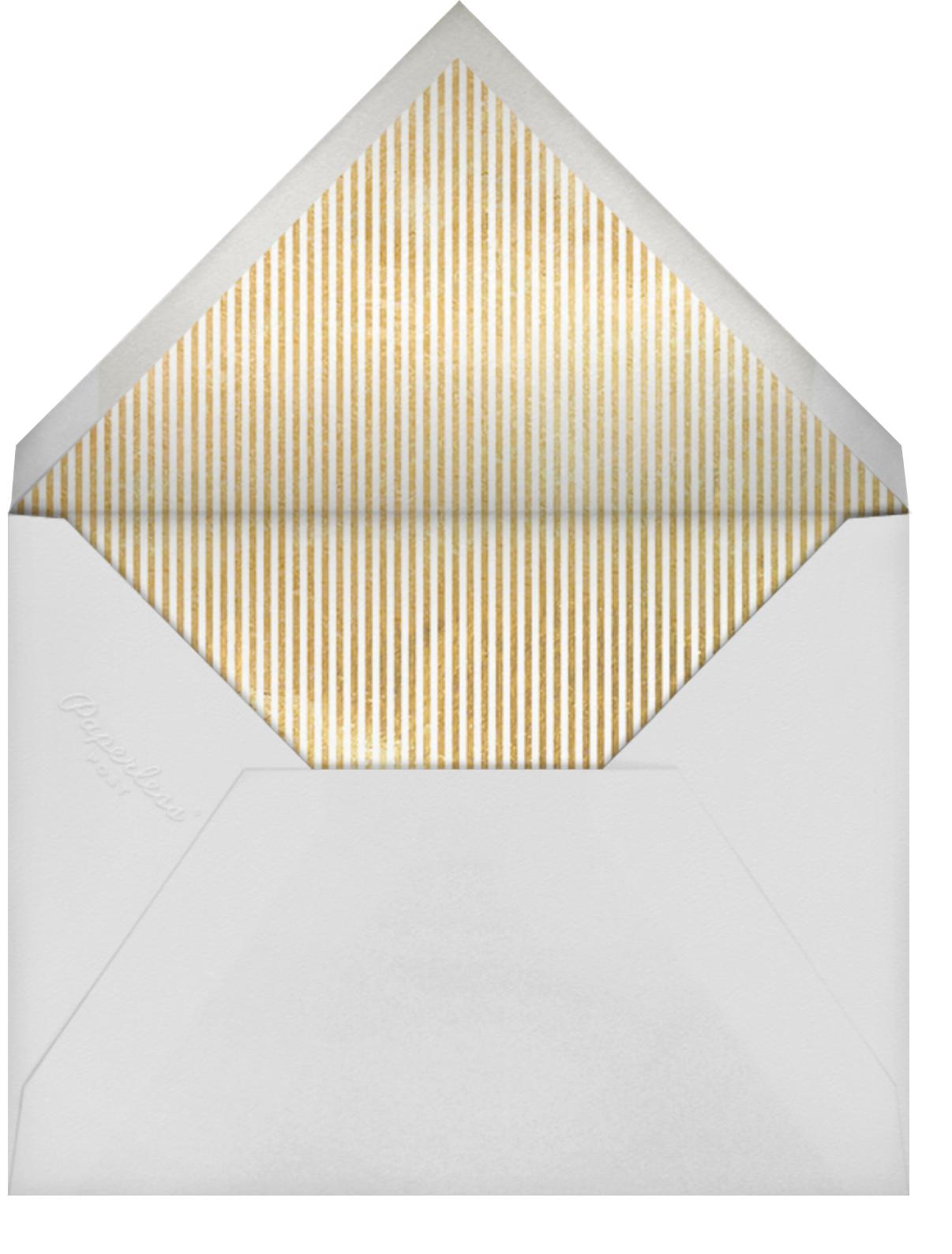 Sprawling Script (Virtual) - Blue - Sugar Paper - Bat and bar mitzvah - envelope back
