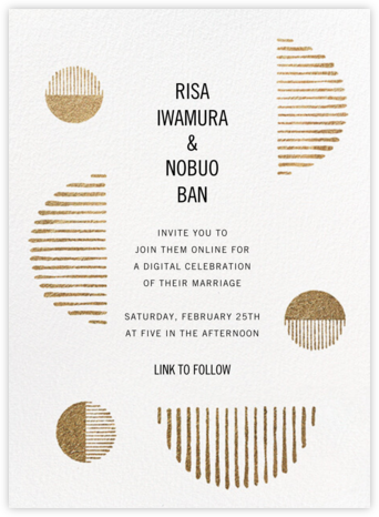 Moonshot (Invitation) - Kelly Wearstler - Virtual Wedding Invitations