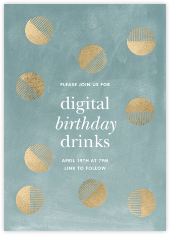 Moonplay - Celadon - Kelly Wearstler - Adult Birthday Invitations