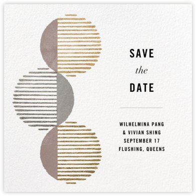 Saros - Kelly Wearstler - Modern save the dates