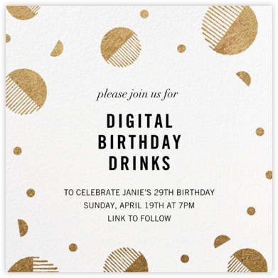 Moondance - Kelly Wearstler - Adult Birthday Invitations