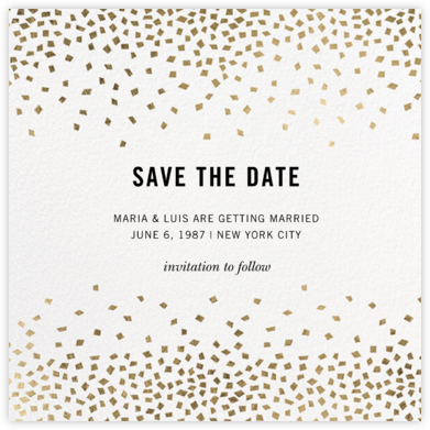 Fetti (Square) - Kelly Wearstler - Modern save the dates