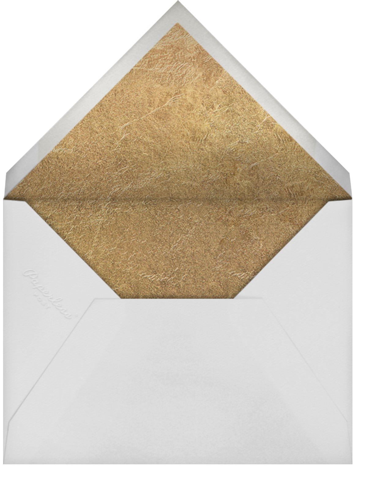 Garde (Invitation) - Gold - Kelly Wearstler - All - envelope back