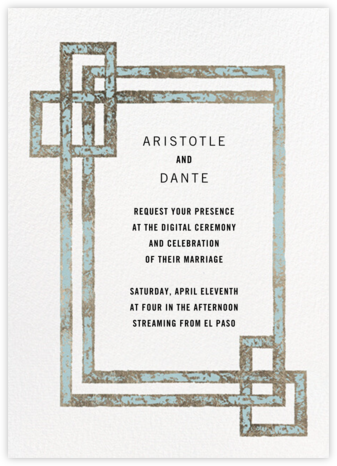 Garde (Invitation) - Teal - Kelly Wearstler - Wedding Invitations