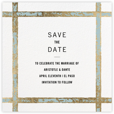 Garde (Square) - Kelly Wearstler - Modern save the dates