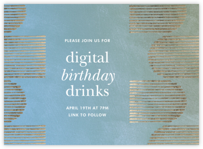 Inlay - Blue - Kelly Wearstler - Adult Birthday Invitations