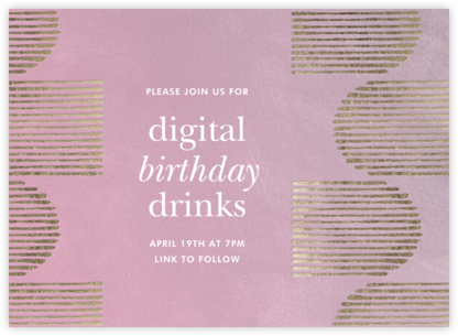 Inlay - Mauve - Kelly Wearstler - Adult Birthday Invitations