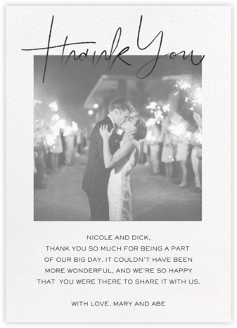 True Thanks - Paperless Post - Online Thank You Cards