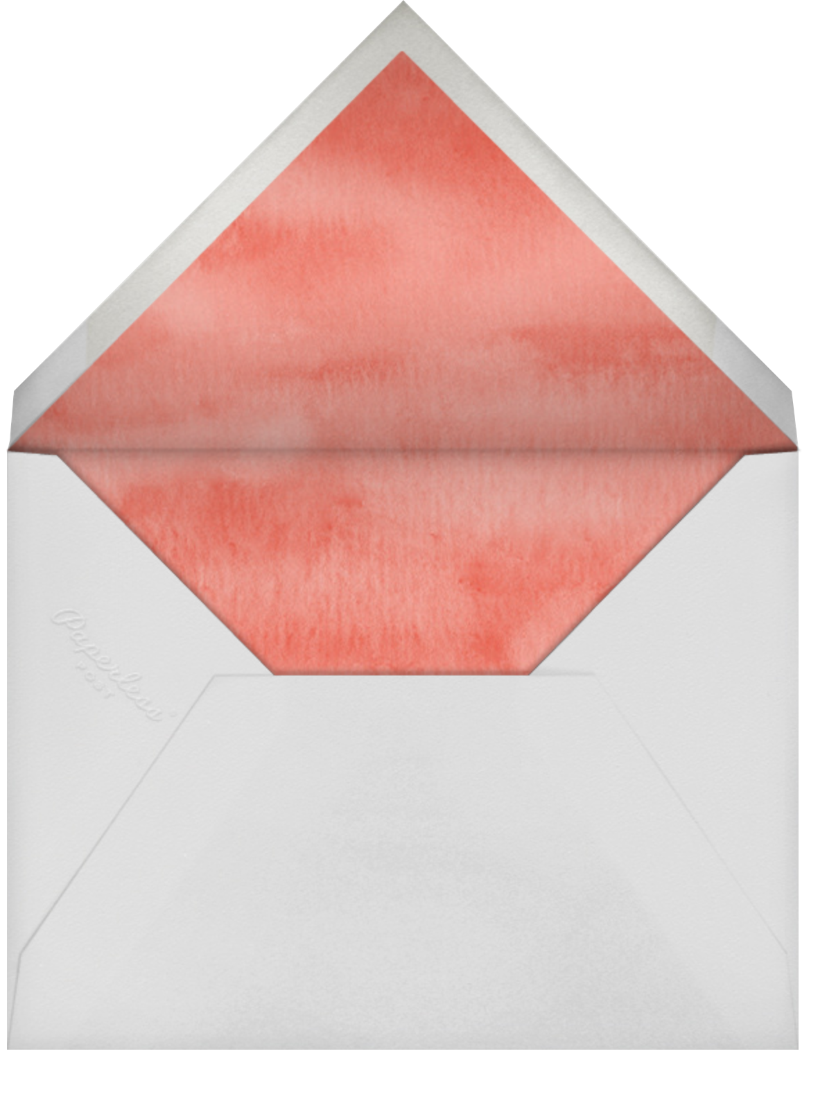 Thoughtful Croc - Paperless Post - Just because - envelope back